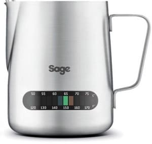 sage barista express milk jug temperature