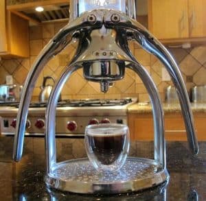Roks Espresso Coffee Maker in the kitchen